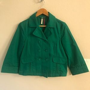 Green light weight canvas coat from Old Navy